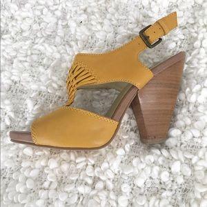 Seychelles Sunflower Yellow Heels